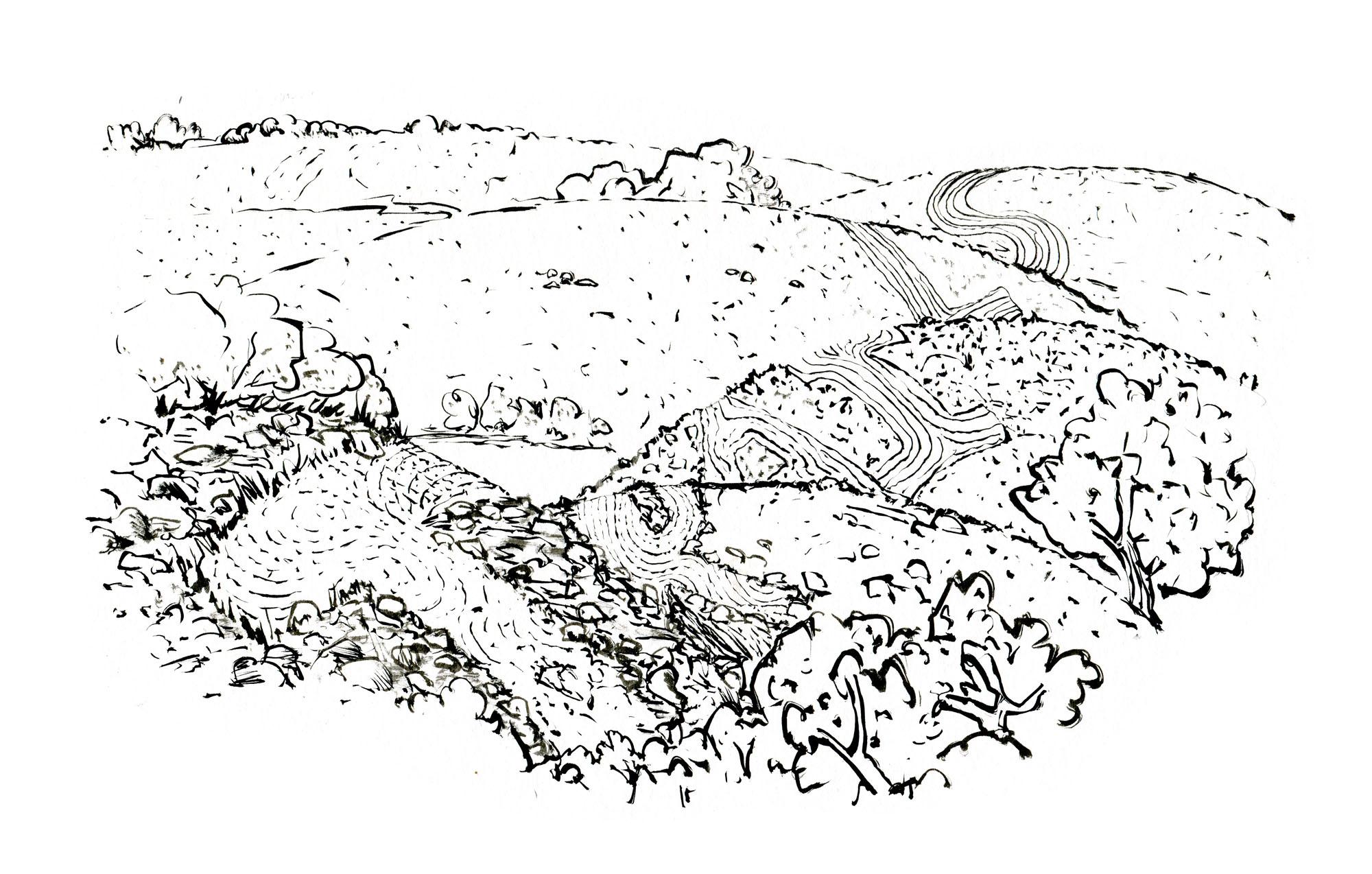 Hiking trail sketch – Hikingorg.wordpress.com