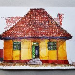 Watercolor of an old building
