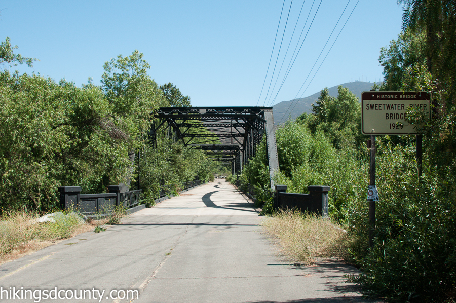 Sweetwater River bridge at San Diego National Wildlife Refuge