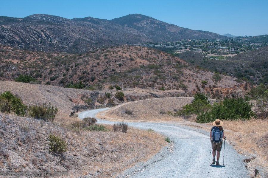 Admiring the view of Cowle's Mountain at Mission Trails