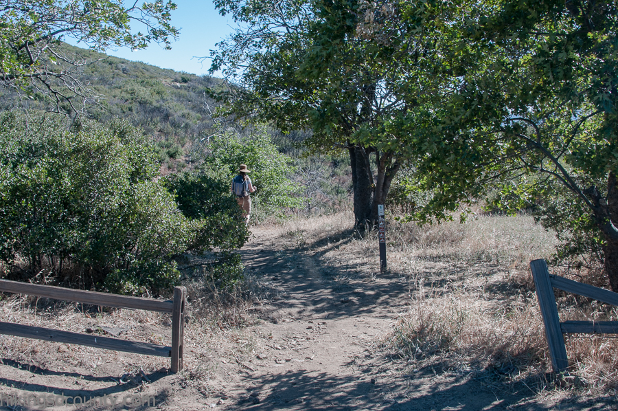 Trail head for the southbound PCT at Pioneer Mail Picnic Area