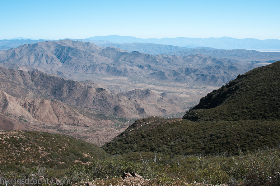 View of Anza Borrego from the PCT en route to Garnet Peak