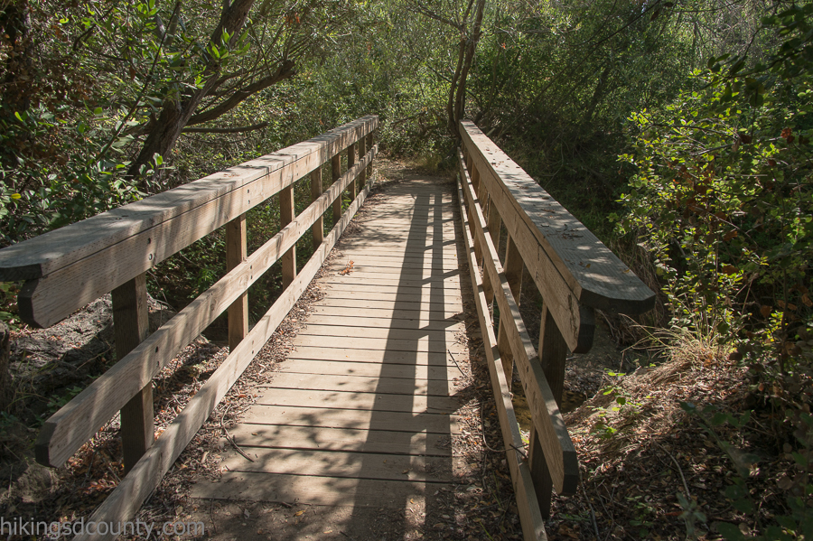 One of the bridges in Rose Canyon
