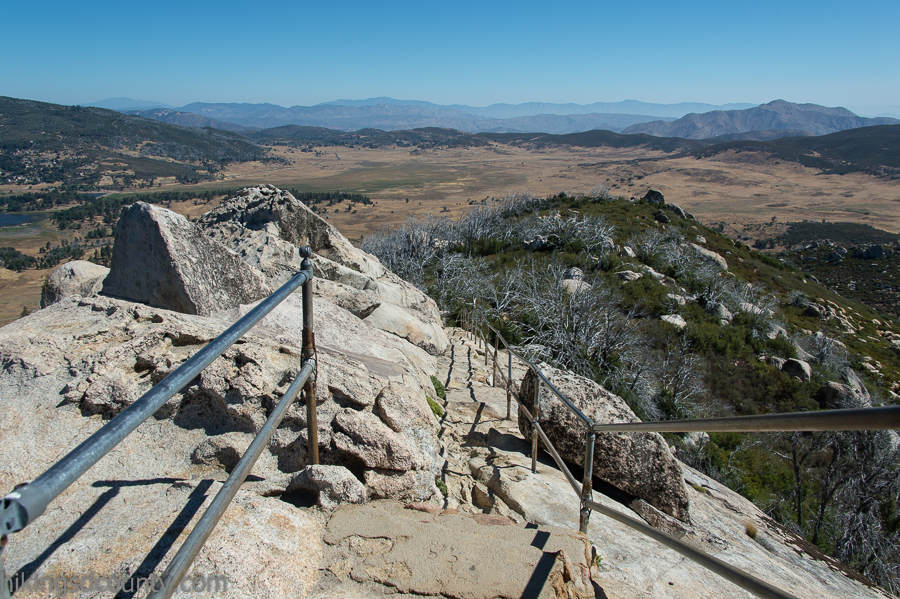 Descending the stairs on Stonewall Peak