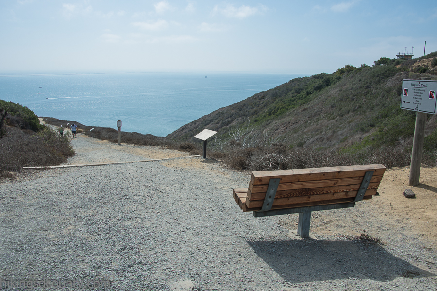 Scenic rest stop on the Bayside Trail at Cabrillo National Monument