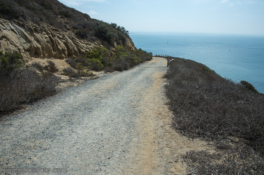 The major descent along the Bayside Trail at Cabrillo National Monument