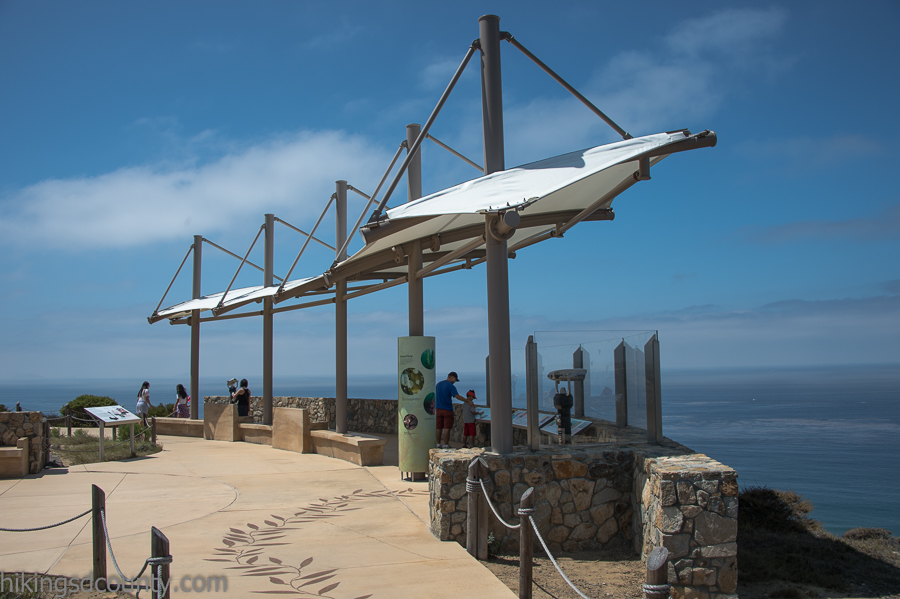 Whale viewing area at Cabrillo National Monument