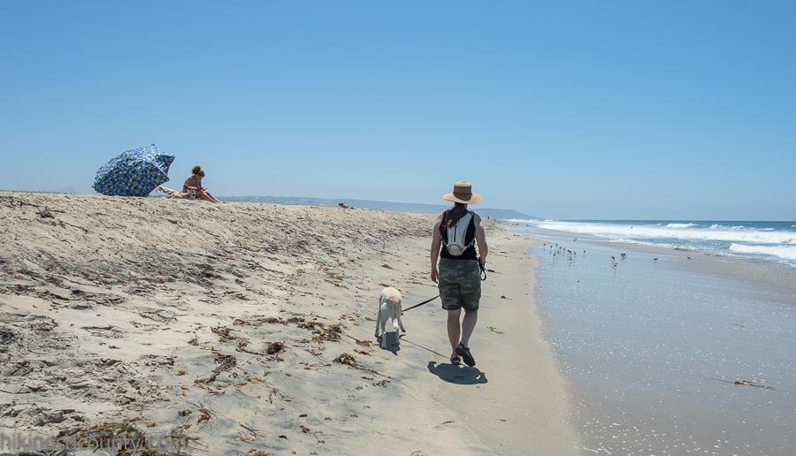 Hiking the North Coast trail at the Tijuana River Estuary