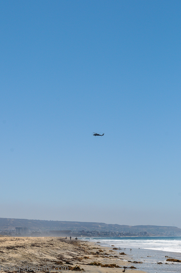 Helicopters are a frequent sight at the Tijuana Estuary