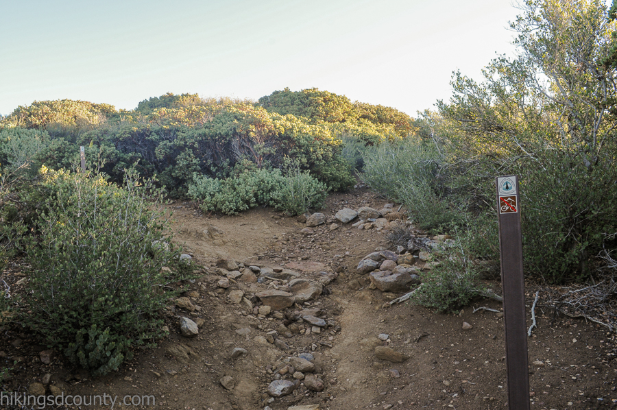 The crucial turn off from the PCT for Monument Peak