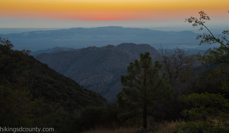Pre dawn from the Desert View Picnic Area