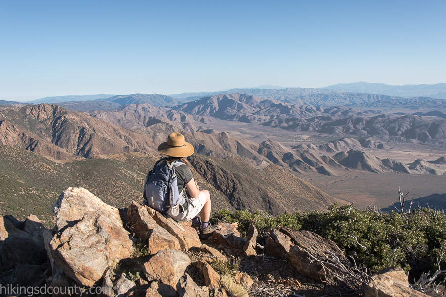 Enjoying the view of Anza Borrego from Monument Peak
