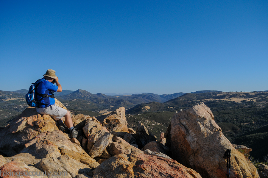 Snappin' pics on top of Oakzanita Peak