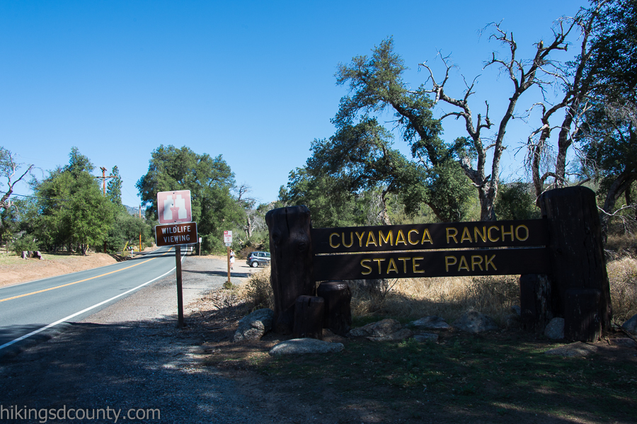 Entrance to Cuyamaca State Park on highway 79