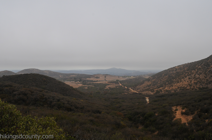 The view towards Poway from the Iron Mountain Peak trail