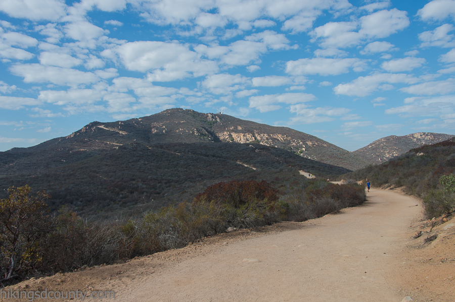 The Cowles Mountain service road