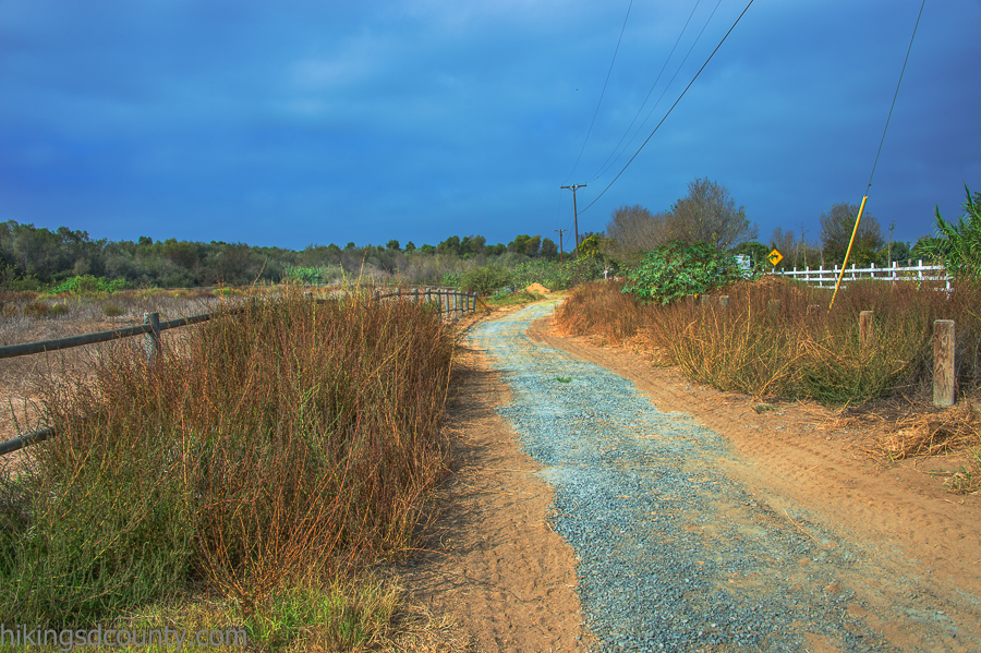 The trail runs alongside Sunset Ave
