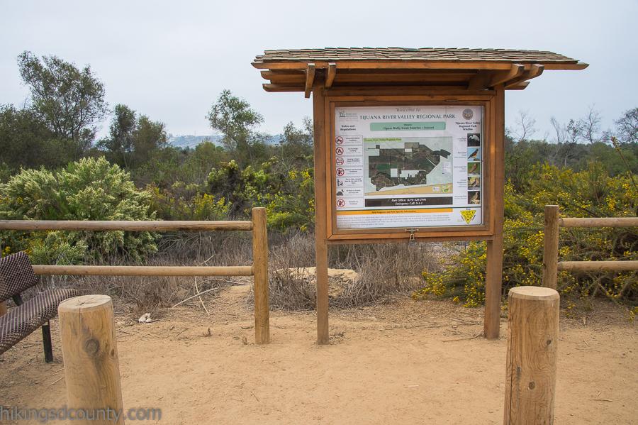 Tijuana River Valley trail head kiosk