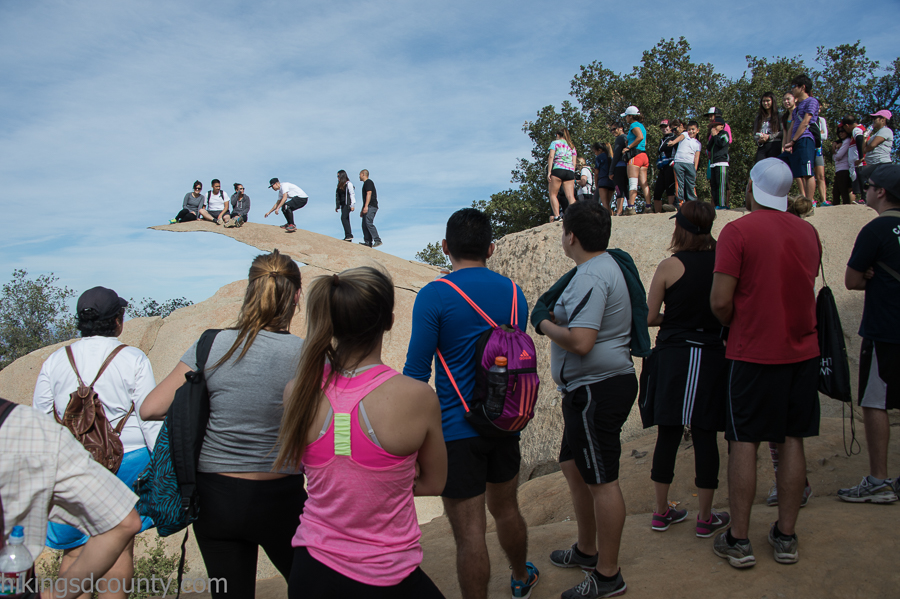 The selfie line at Potato Chip Rock