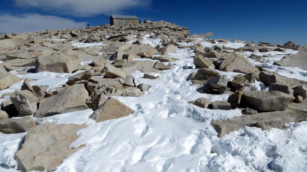 Nearing the summit...