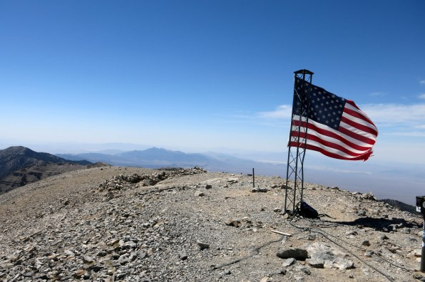 Mt Charleston summit (11,959ft / 3,645m) - highest peak in Nevada)