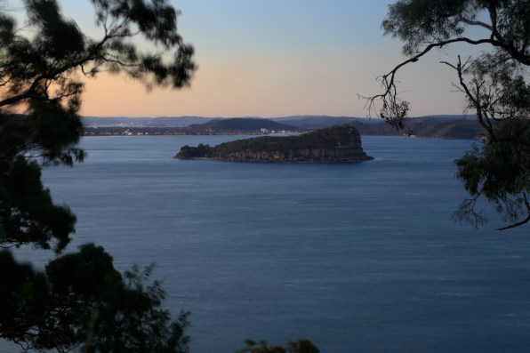 Lion Island Nature Reserve; behind is Umina and Bouddi NP