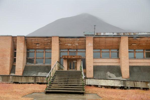Yuri Gagarin swimming pool complex in Pyramiden