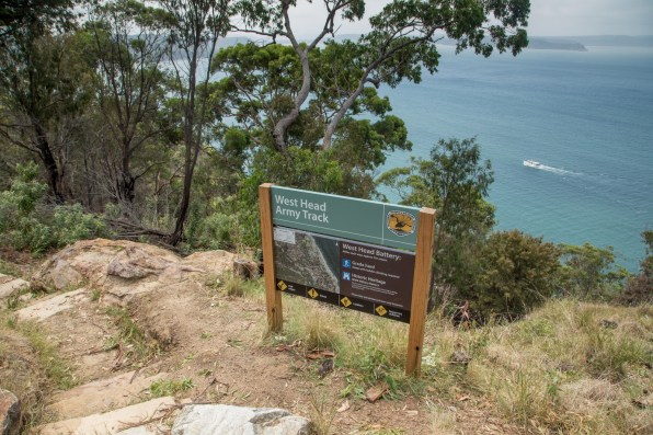 Start of West Head Army Track, at West Head