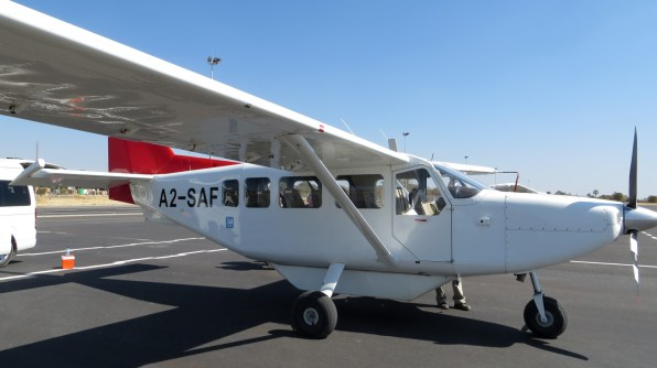Our first charter flight from Maun