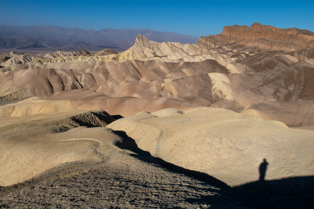 Zabriskie Point at the end of the Badlands Loop