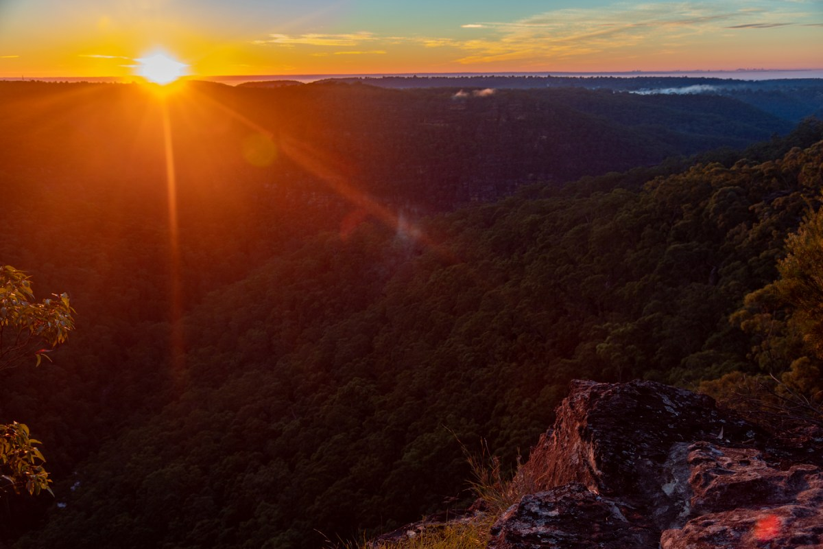 View from Lost World Lookout from Faulconbridge to Glenbrook