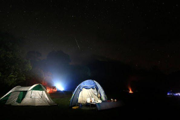 A shooting star over our tents
