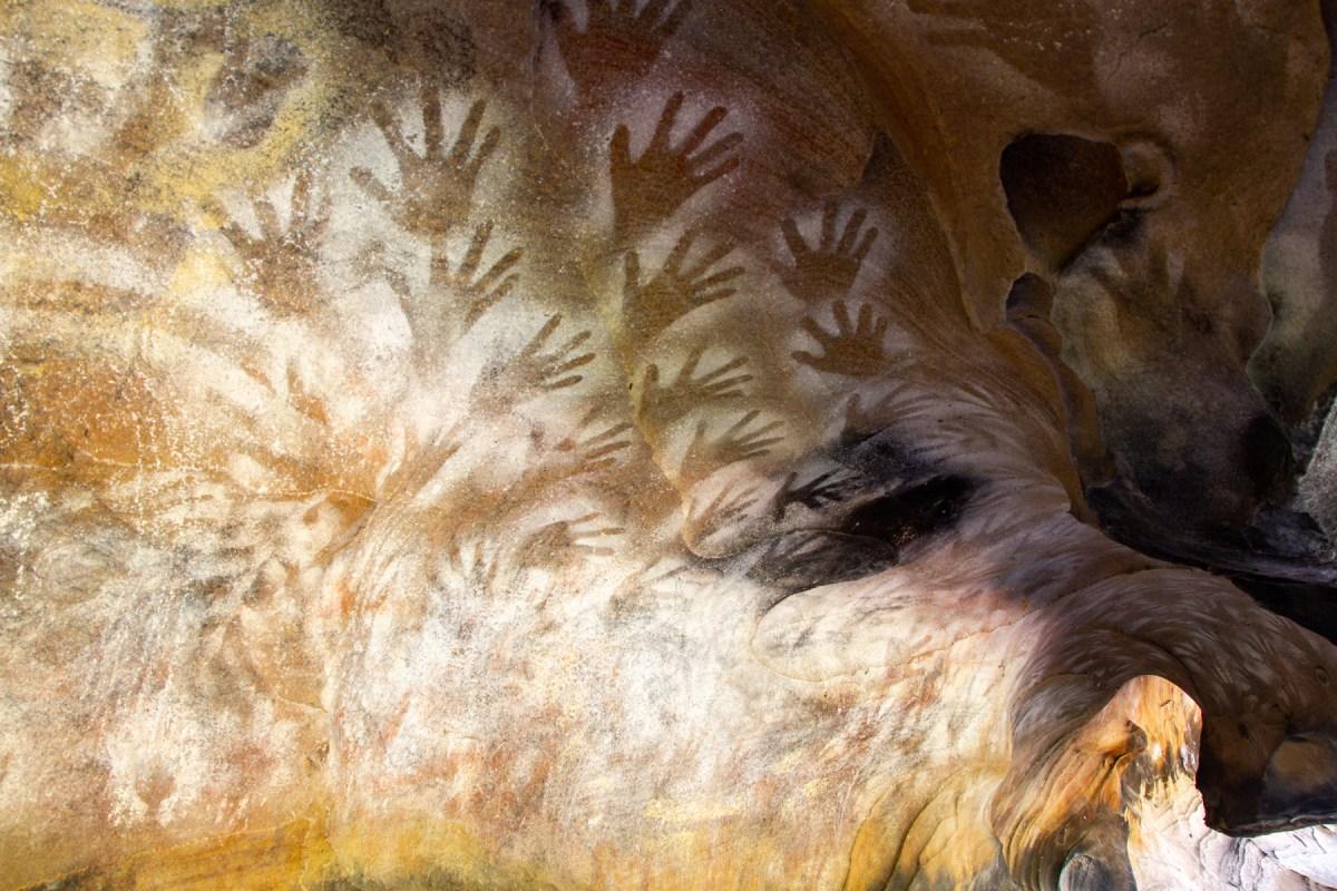 Swintons Cave handprints