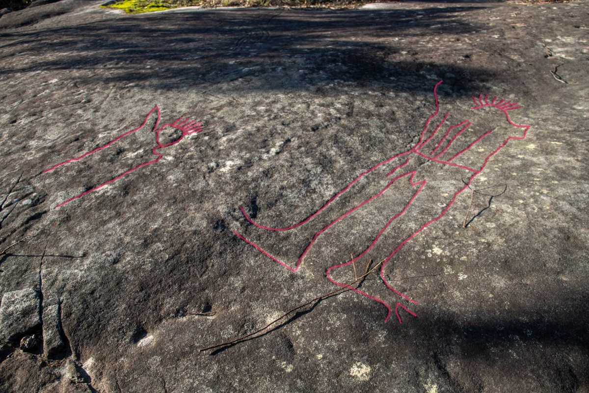 IMG 1941 LR highlighted Spirits Rock (Cowan Trail)