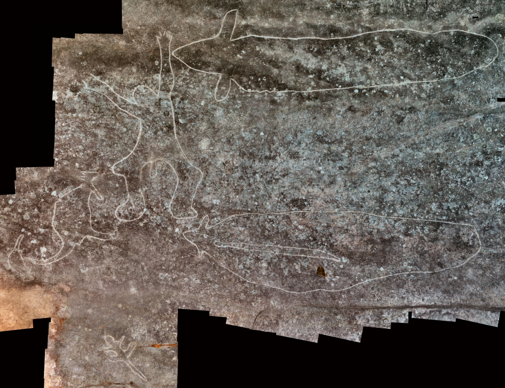 figure with eels 1 Mooney Mooney Aboriginal Area