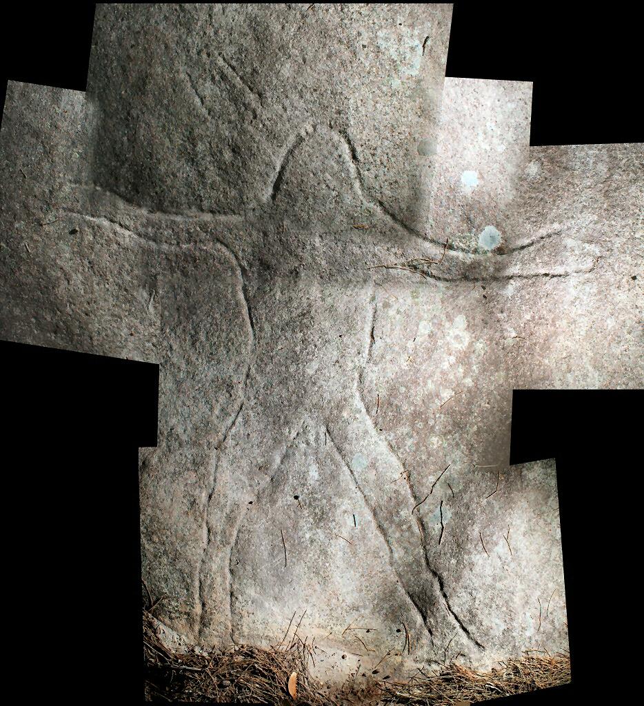 figure with mundoe Wheeler Heights Aboriginal Site