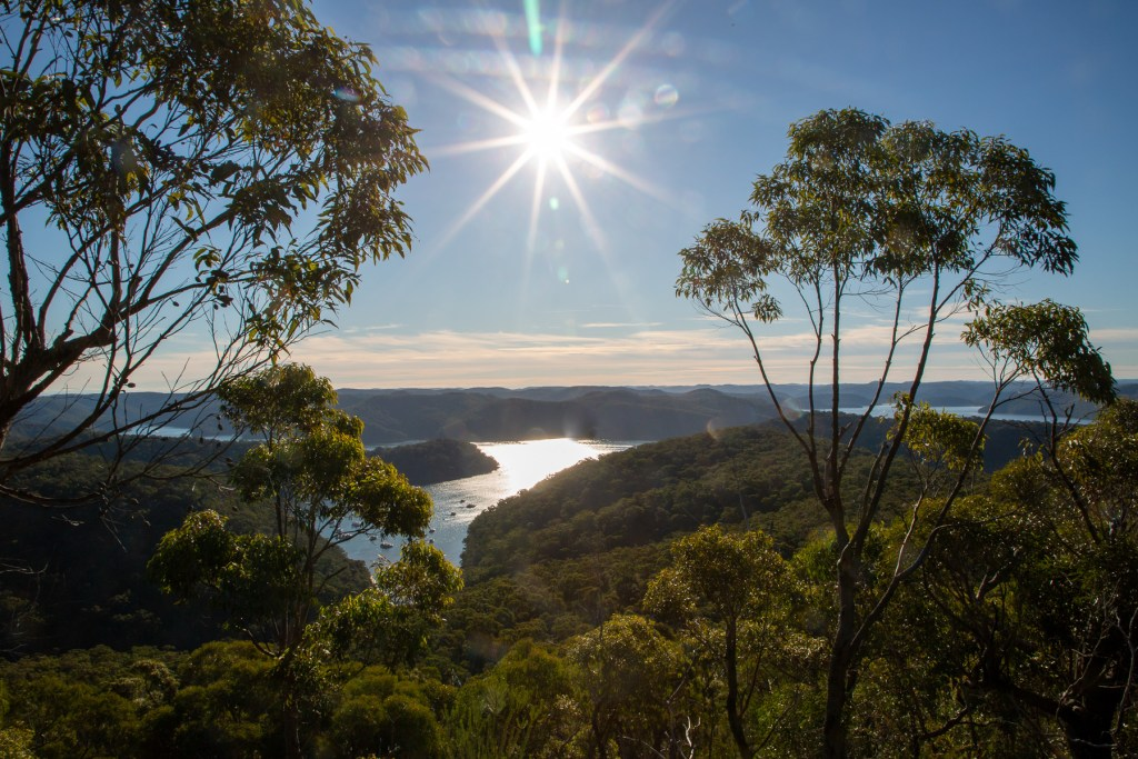 View from Topham Hill over Cowan Creek