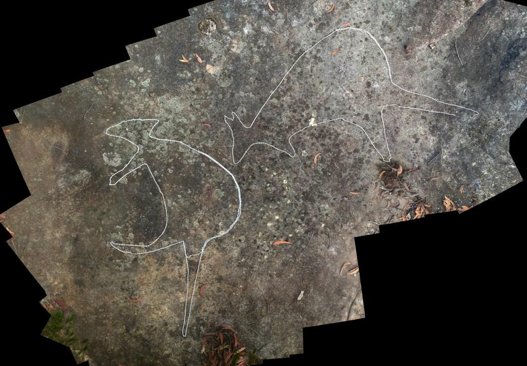montage1 stitch LR 1 Myall Trail Aboriginal sites (Ku-ring-gai Chase)