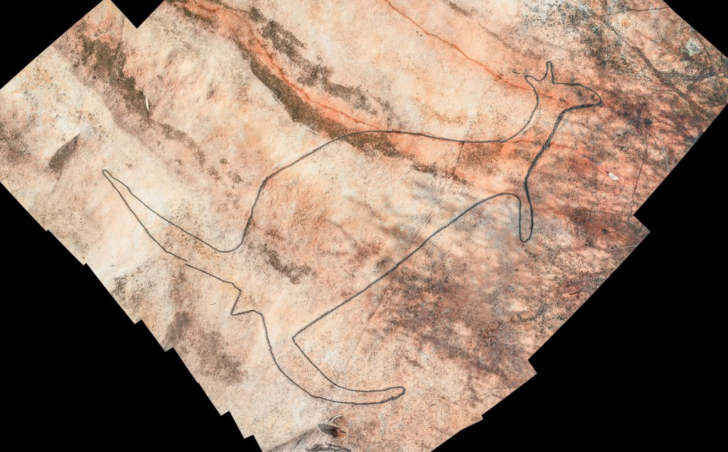 montage2 stitch LR Myall Trail Aboriginal sites (Ku-ring-gai Chase)