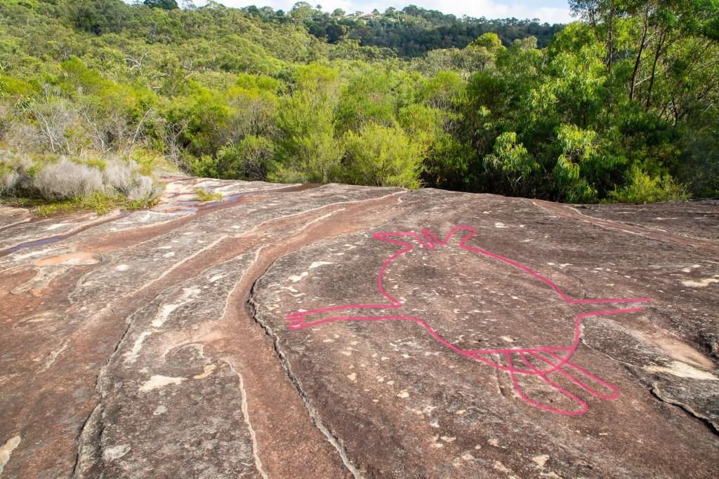 AWAT2419 LR highlighted Jerusalem Bay Track engraving site