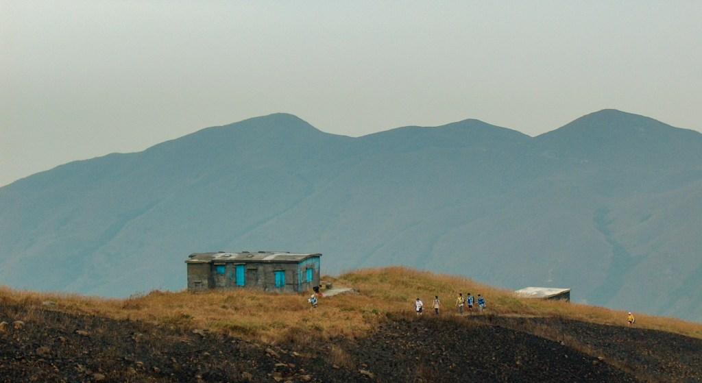 Old stone huts near Sunset Peak along Lantau Traiil