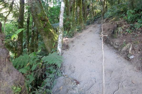 Steep section around 1600m