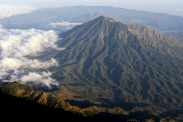 View towards Mt Batur and Batur lake