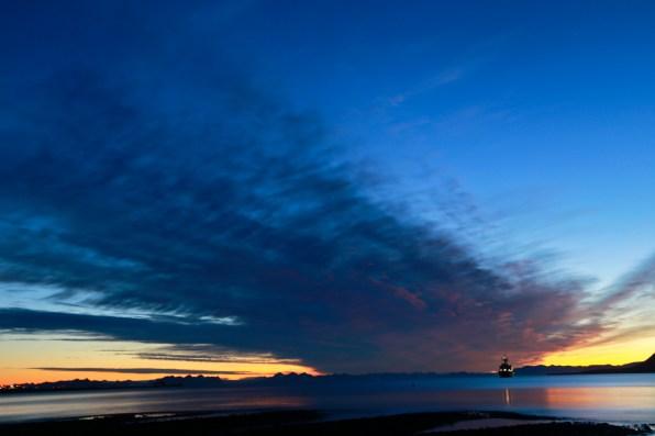 Sun is just below the horizon - photo taken at 11:10pm