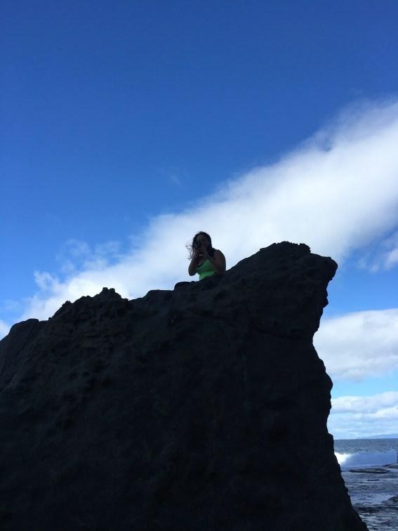 Kat on a higher rock