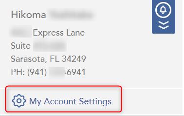 My Account Settings