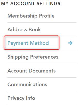 Payment Methodを選択