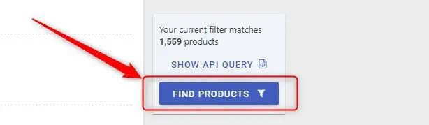 「FIND PRODUCTS」をクリック