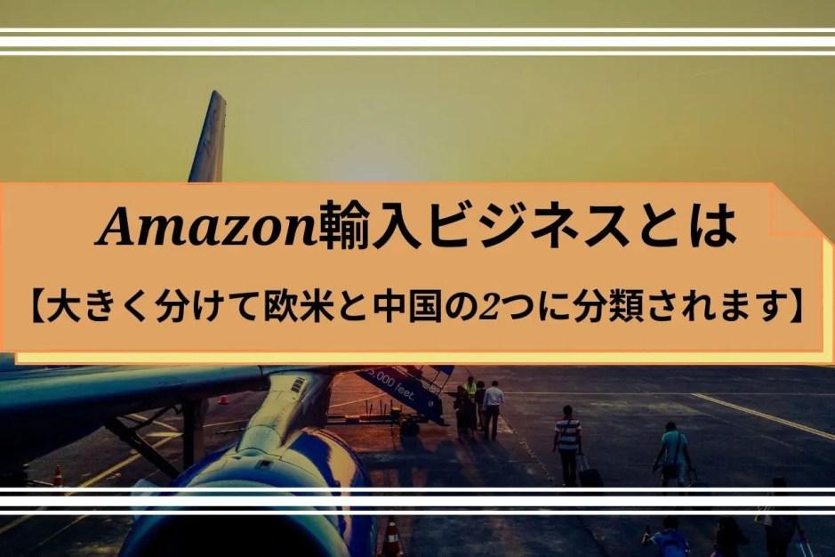 Amazon輸入ビジネスとは【大きく分けて欧米と中国の2つに分類されます】