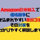Amazon欧米輸入で価格競争に巻き込まれやすい原因3選とその対策をわかりやすく解説します